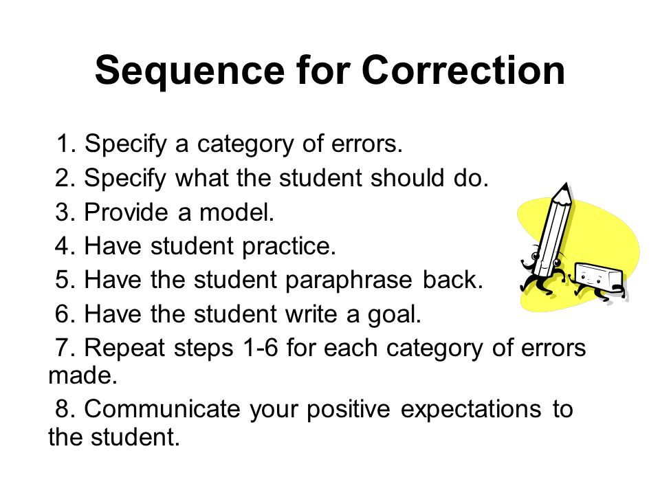 Sequence for Correction