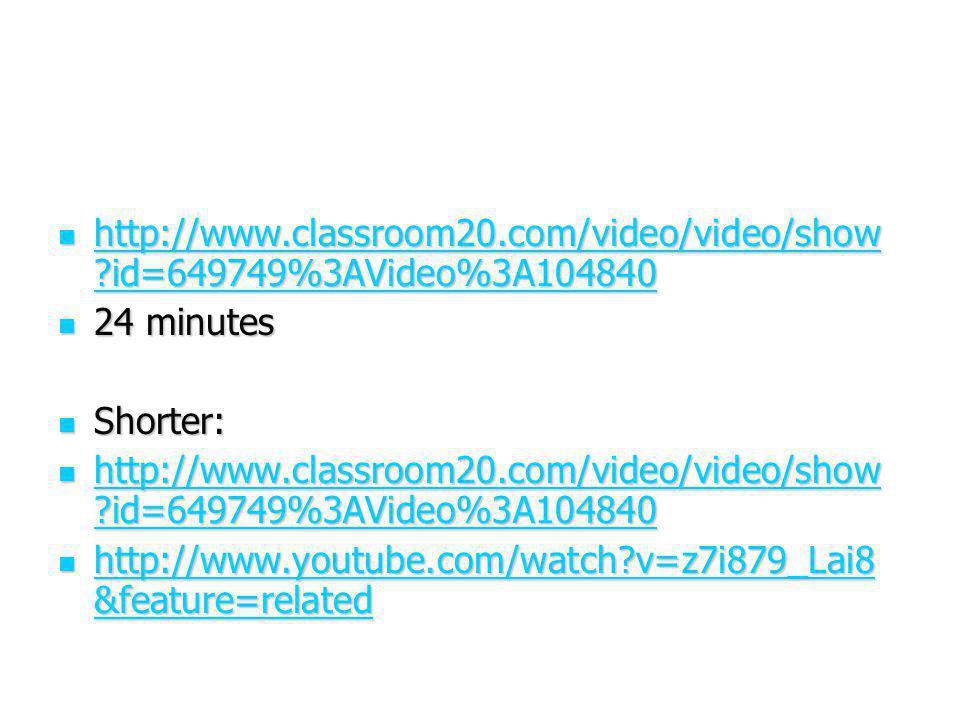 http://www. classroom20. com/video/video/show
