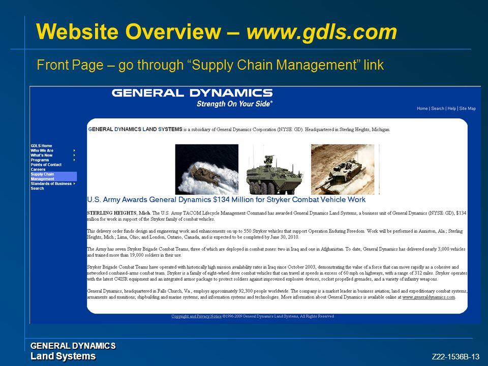 Website Overview – www.gdls.com