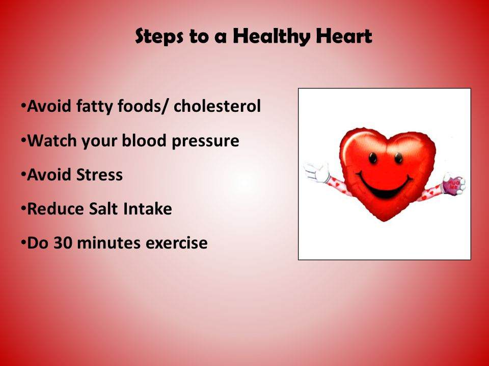 Steps to a Healthy Heart