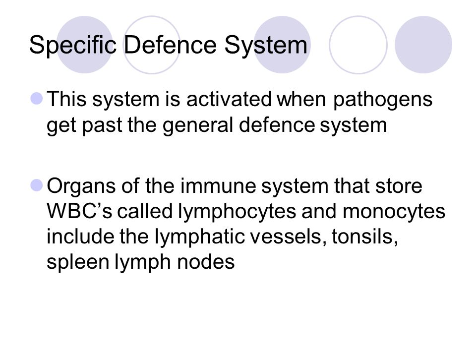 Specific Defence System