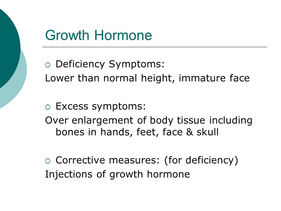 Growth Hormone Deficiency Symptoms: