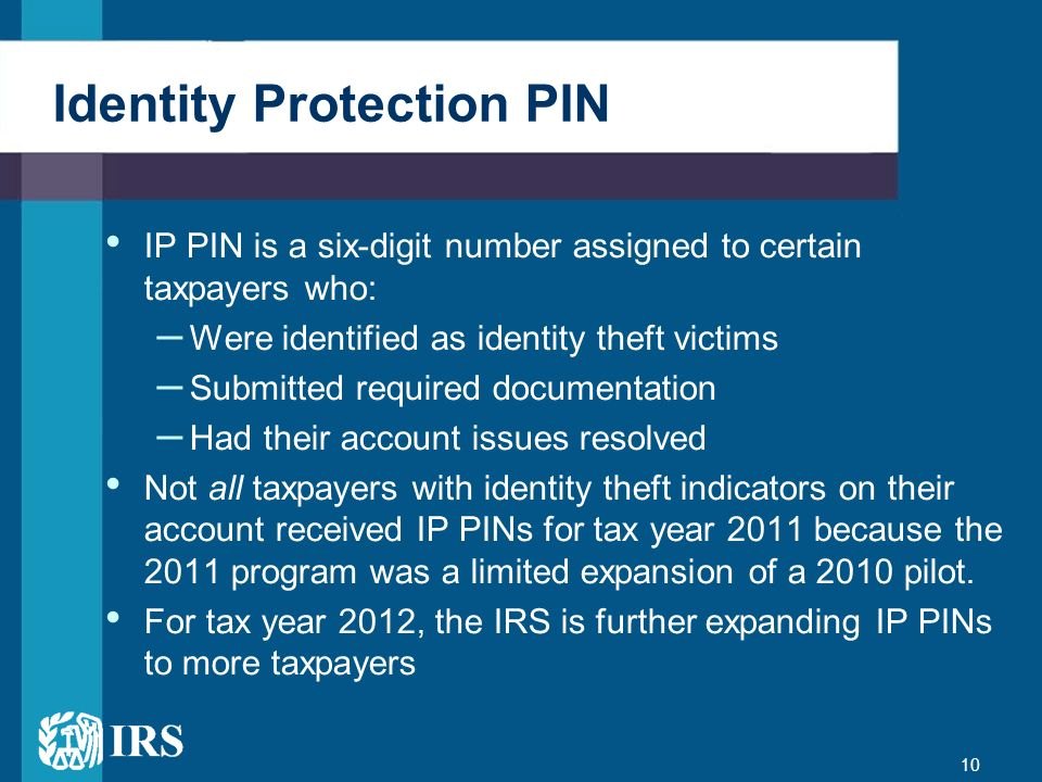 Identity Protection PIN
