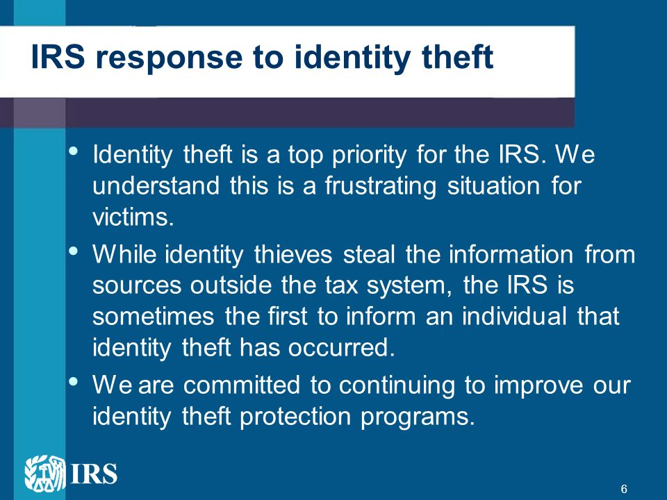 IRS response to identity theft