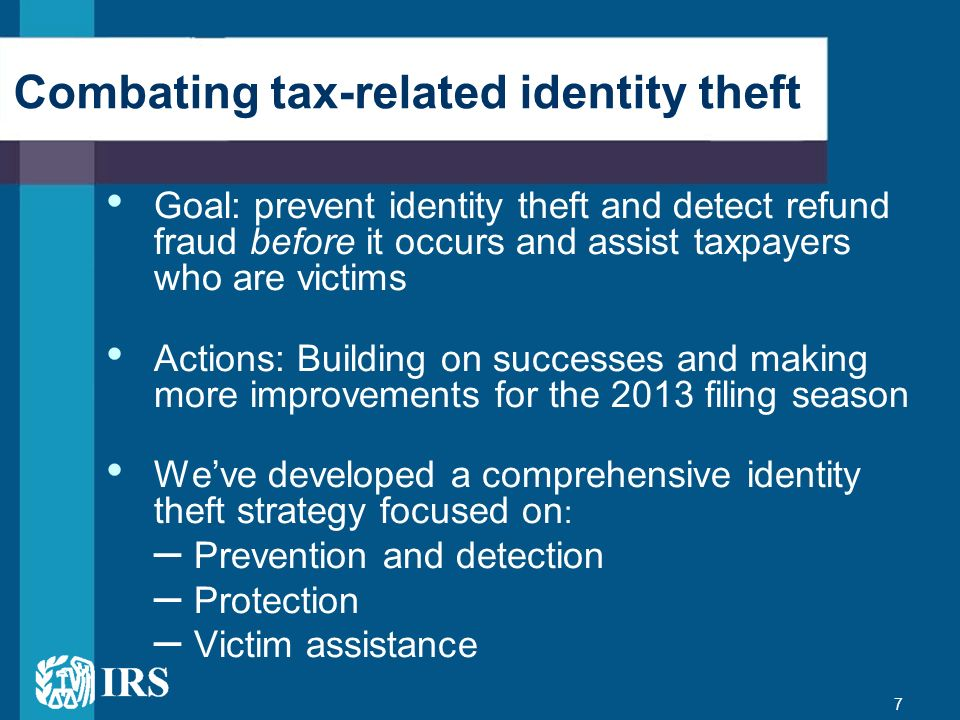 Combating tax-related identity theft