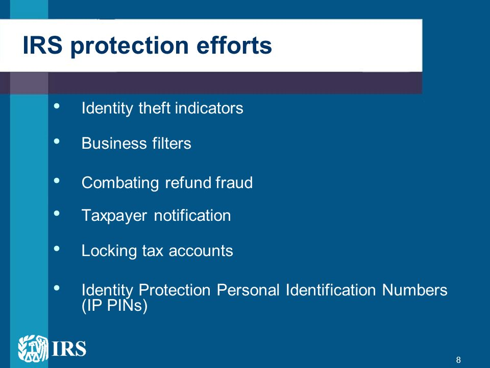 IRS protection efforts