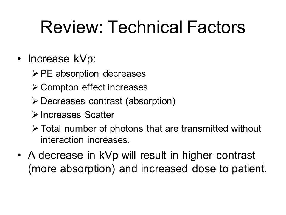 Review: Technical Factors