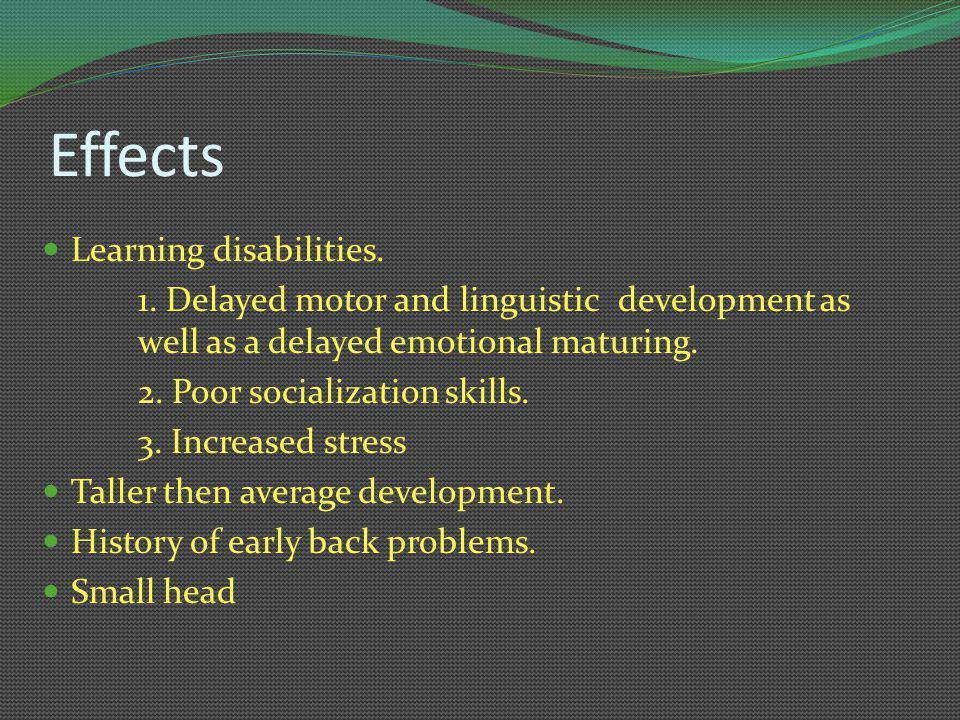 Effects Learning disabilities.