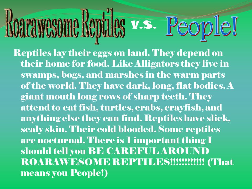 People! Roarawesome Reptiles V.S.