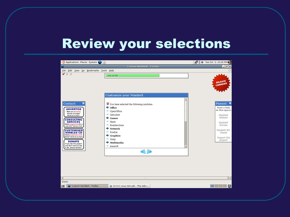 Review your selections