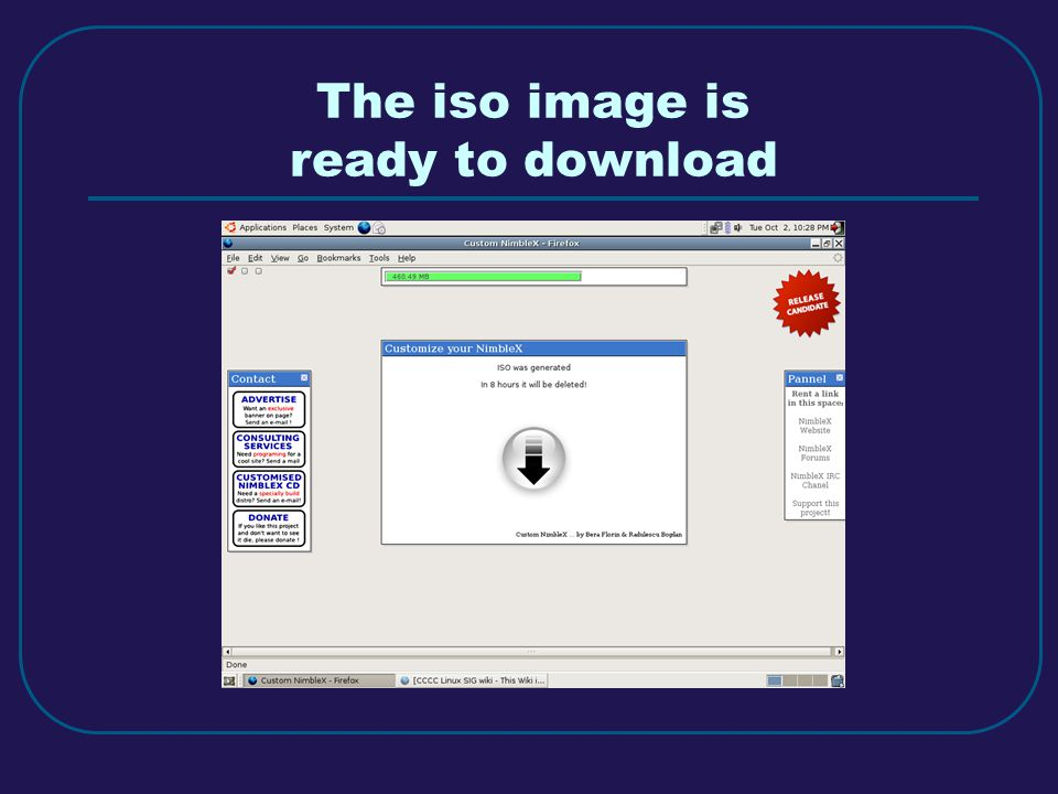 The iso image is ready to download
