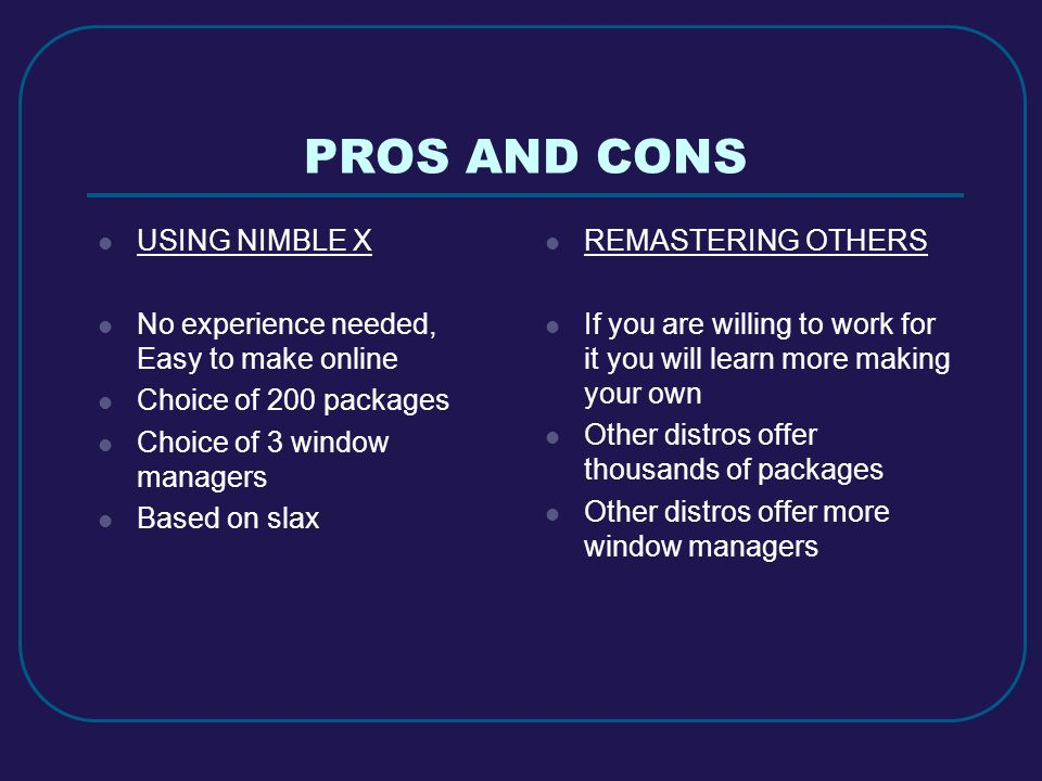 PROS AND CONS USING NIMBLE X No experience needed, Easy to make online