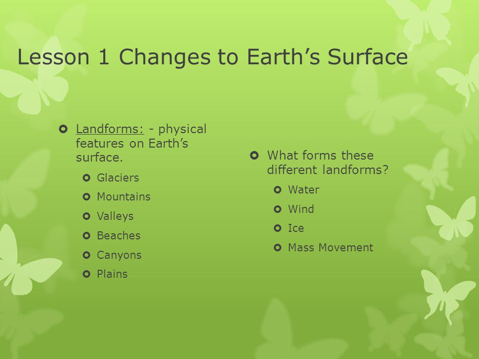 Lesson 1 Changes to Earth's Surface