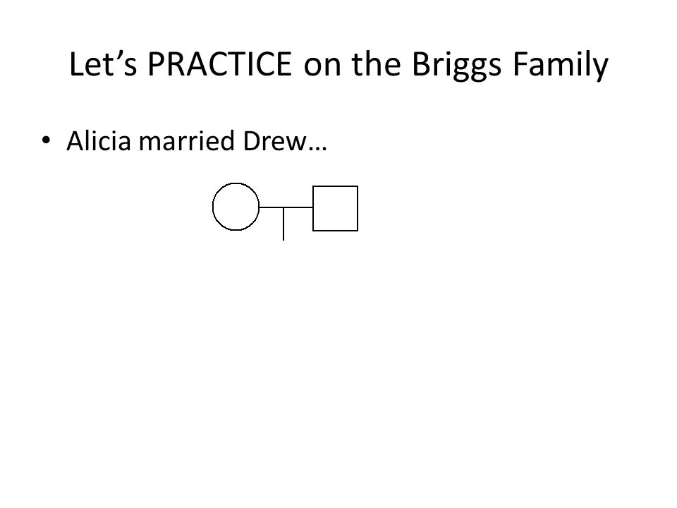 Let's PRACTICE on the Briggs Family