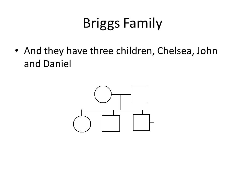 Briggs Family And they have three children, Chelsea, John and Daniel