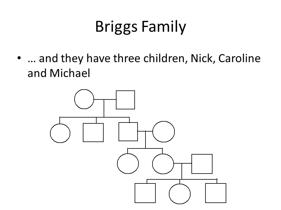Briggs Family … and they have three children, Nick, Caroline and Michael