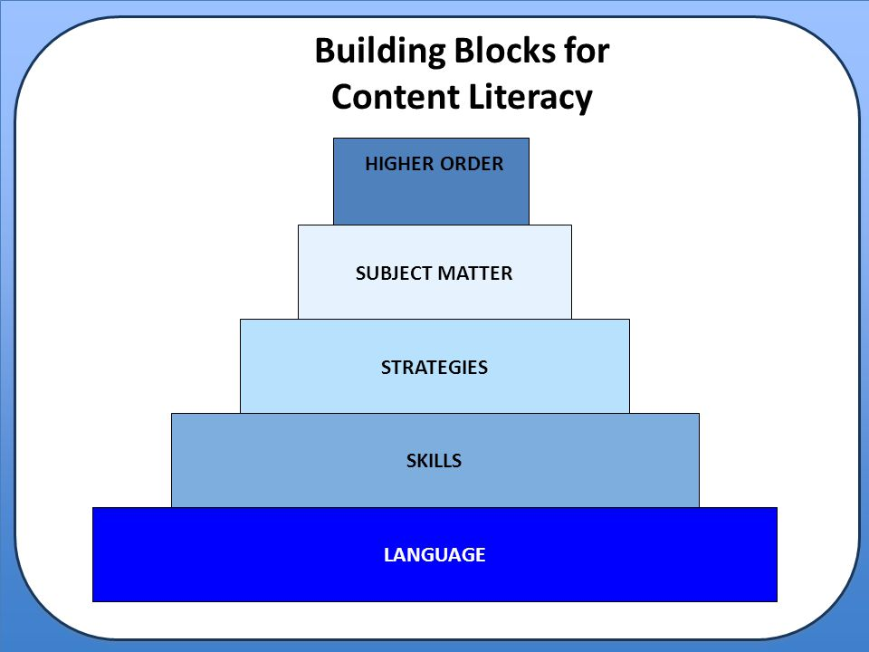 Building Blocks for Content Literacy
