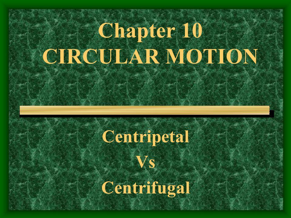 Chapter 10 CIRCULAR MOTION