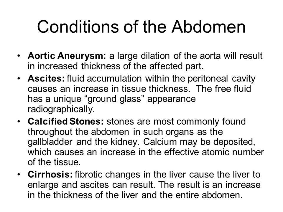 Conditions of the Abdomen