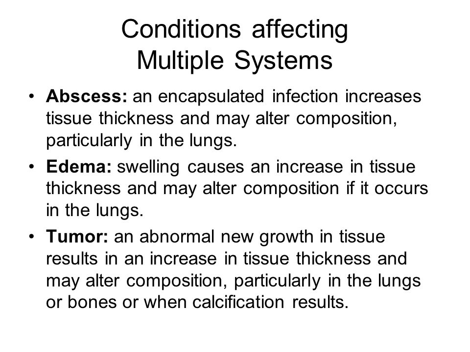 Conditions affecting Multiple Systems
