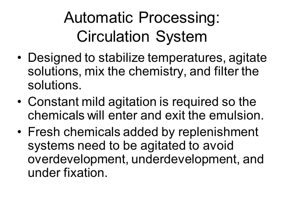 Automatic Processing: Circulation System