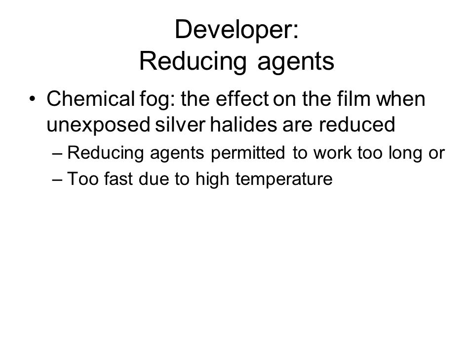 Developer: Reducing agents
