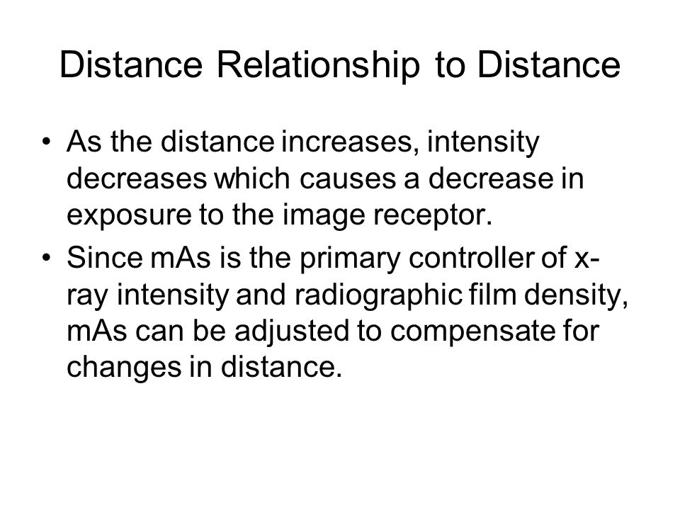 Distance Relationship to Distance