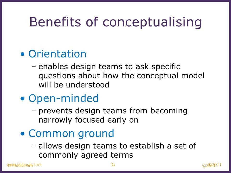 Benefits of conceptualising