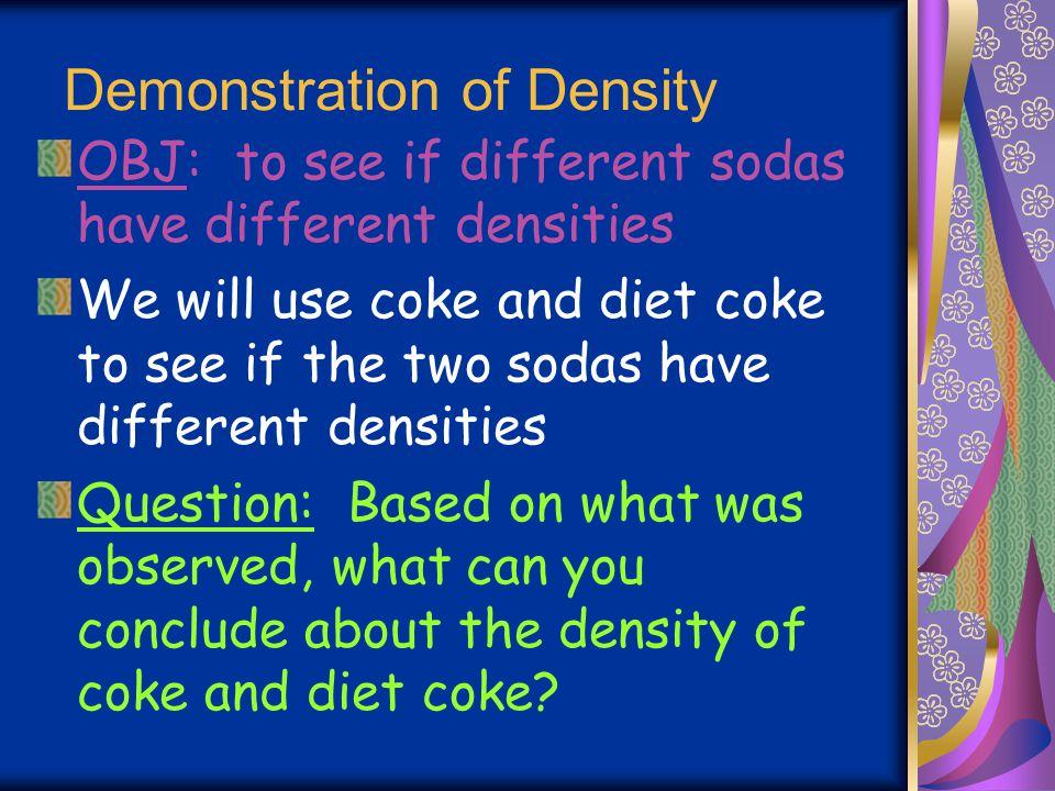 Demonstration of Density