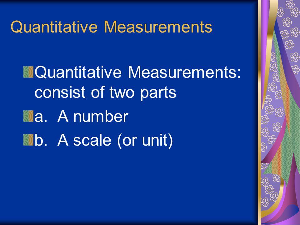 Quantitative Measurements
