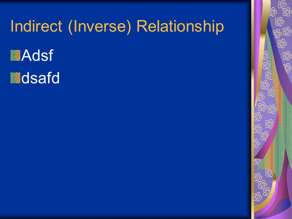 Indirect (Inverse) Relationship