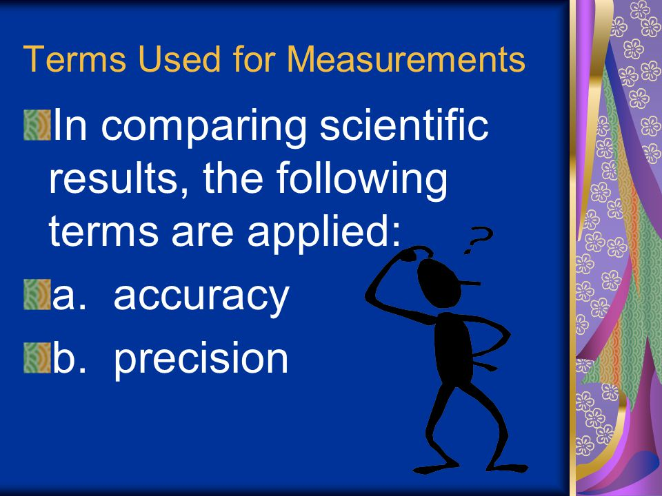 Terms Used for Measurements