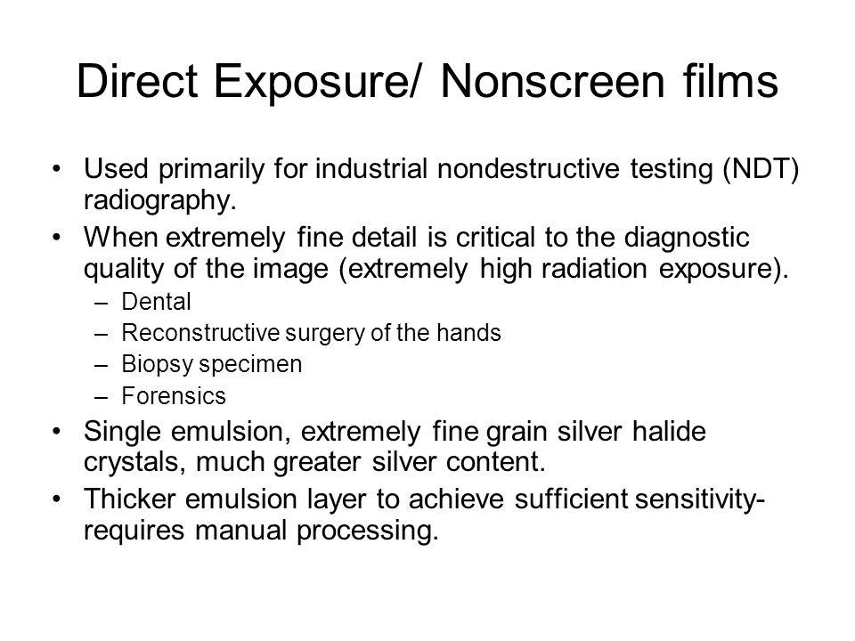 Direct Exposure/ Nonscreen films