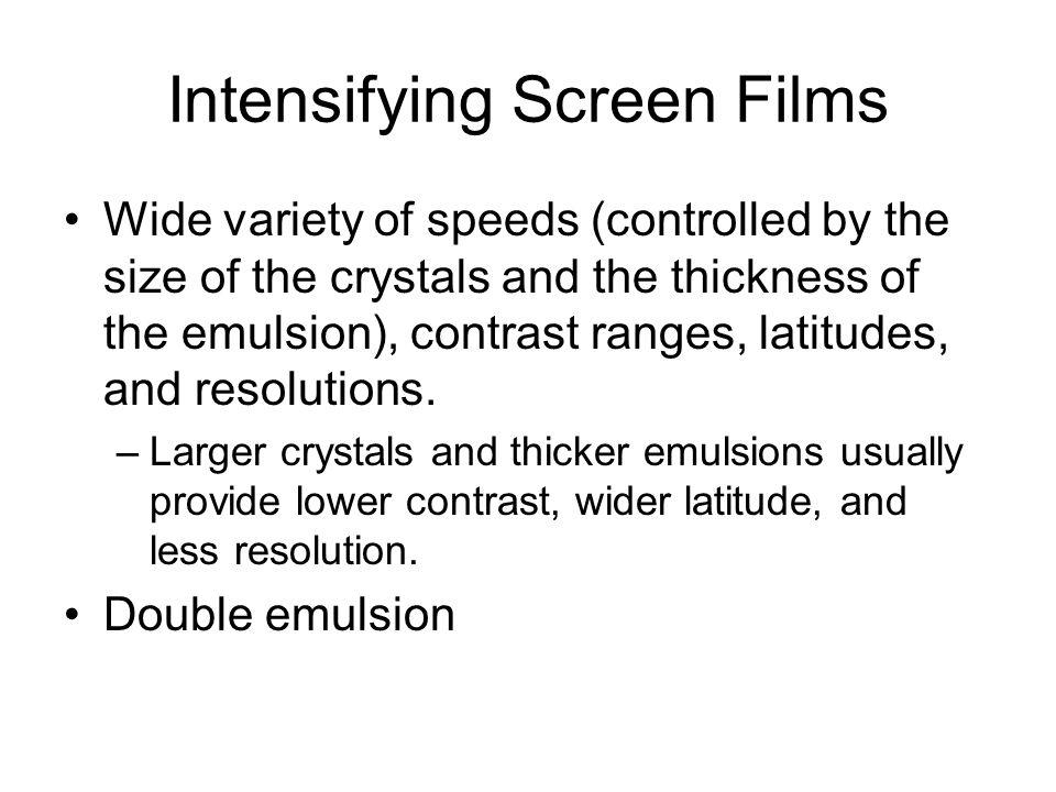 Intensifying Screen Films