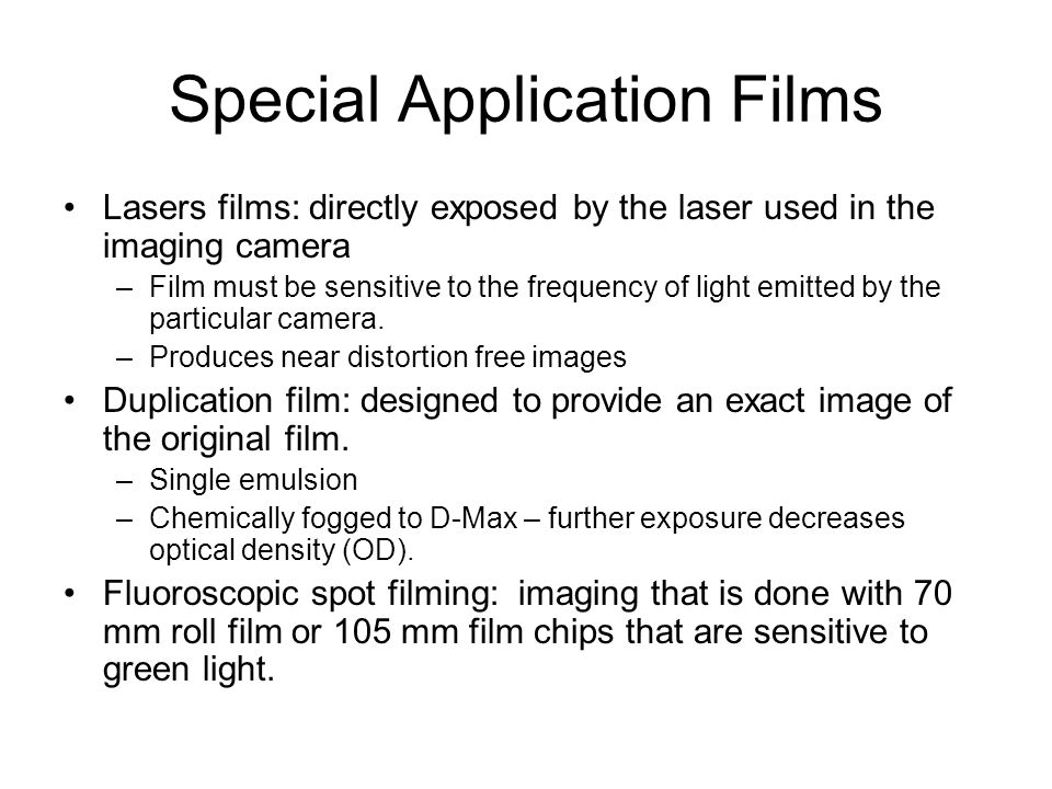 Special Application Films