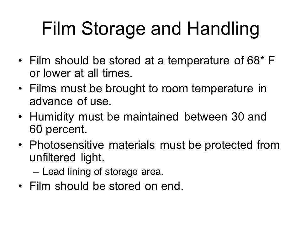 Film Storage and Handling