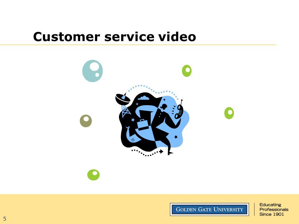 Customer service video