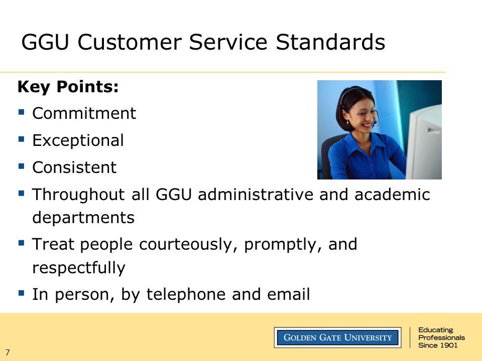 GGU Customer Service Standards