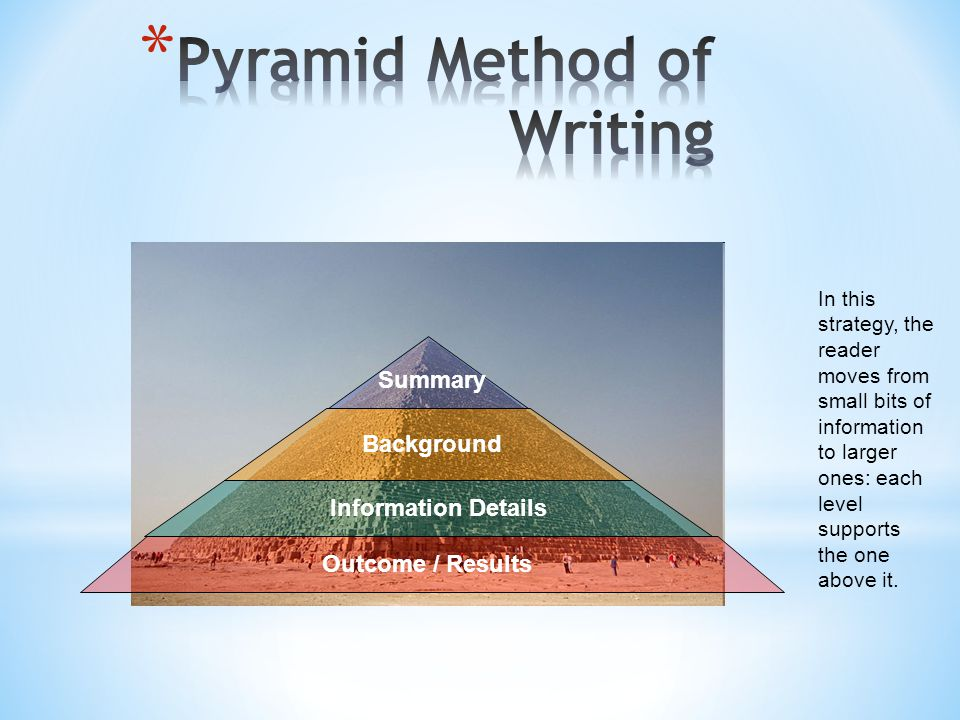 Pyramid Method of Writing