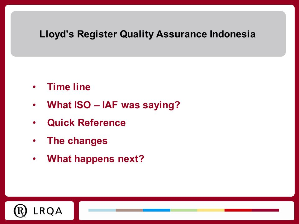 Lloyd's Register Quality Assurance Indonesia