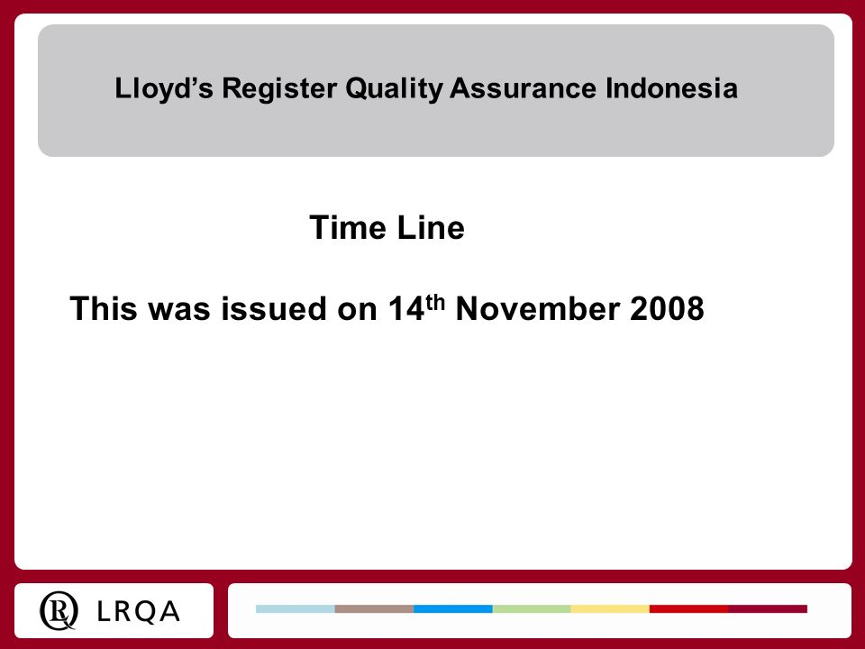 This was issued on 14th November 2008