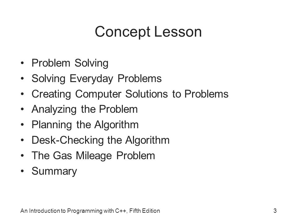 Concept Lesson Problem Solving Solving Everyday Problems