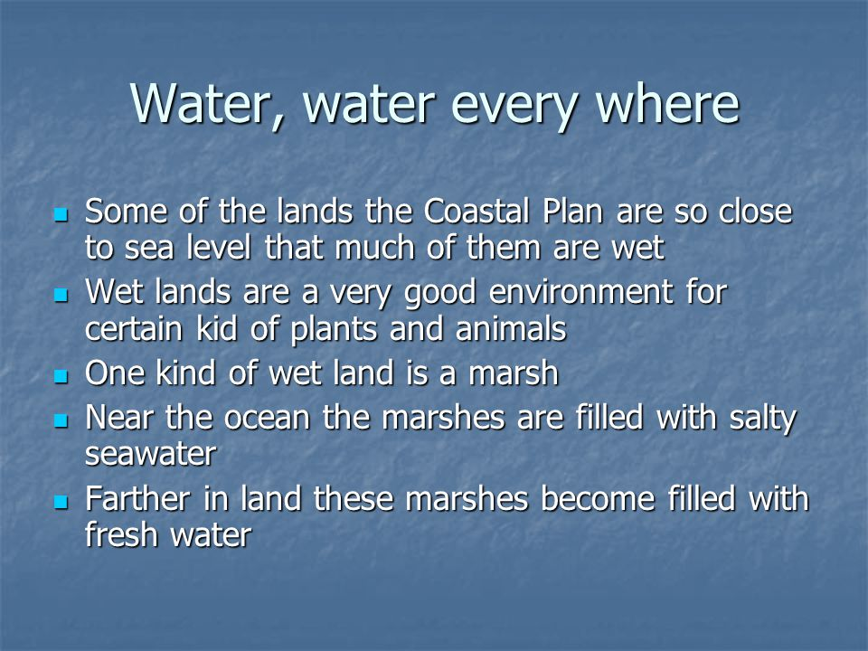 Water, water every where