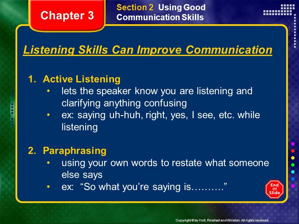 Listening Skills Can Improve Communication