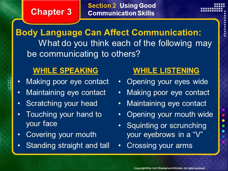Section 2 Using Good Communication Skills