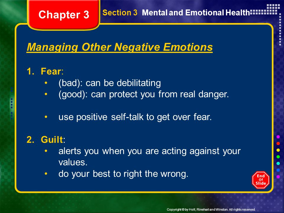 Managing Other Negative Emotions