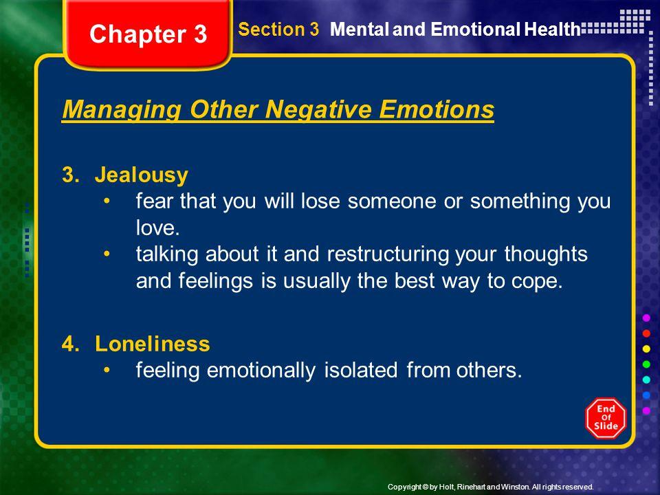 Managing Other Negative Emotions