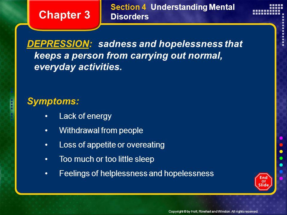 Section 4 Understanding Mental Disorders
