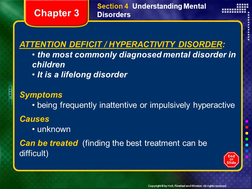 Chapter 3 ATTENTION DEFICIT / HYPERACTIVITY DISORDER: