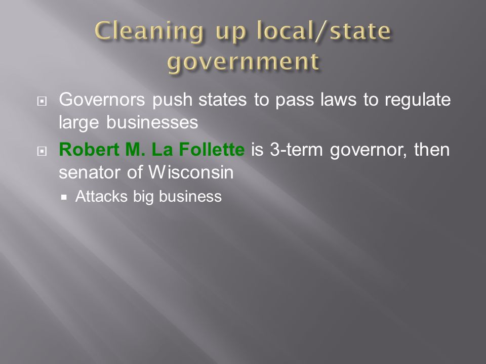 Cleaning up local/state government